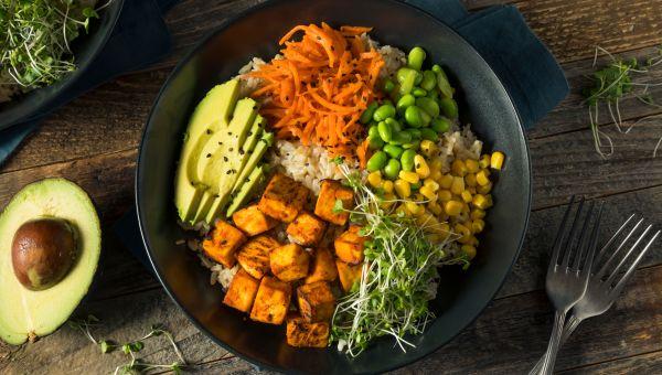 Asian-inspired tofu bowl