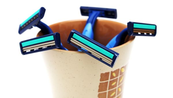 Make sure you dispose of razors when it's time—and store them in a dry place