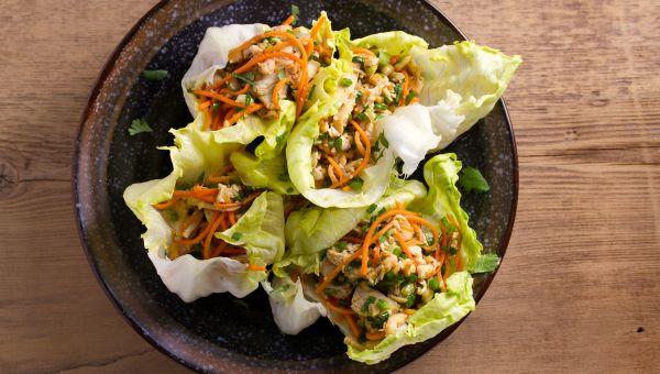 Lunch: lettuce wraps