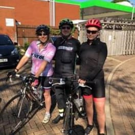 Image for Shaw Gibbs news article - Karyn Jones braves the Langdon Velo Challenge alongside her father and daughter
