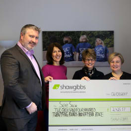 Image for Shaw Gibbs news article - Shaw Gibbs raises over £2,400 for local Oxfordshire charity