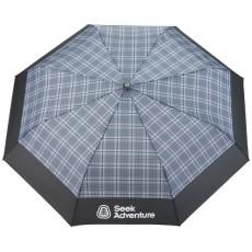 "42"" Recycled Pet Auto Open Plaid Folding Umbrella"