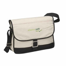 Customizable Canvas Messenger Bag