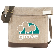 """Chambray Foldover 11"""" Tablet Tote"""