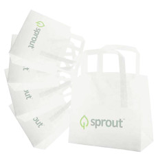 Logo Frosted Tri-fold Handle Shopping Bags