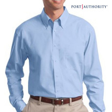 Custom Imprinted Value Poplin Dress Shirt