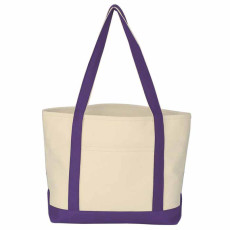 Customizable Heavy Cotton Canvas Boat Tote