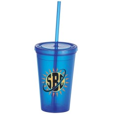 Iceberg 16oz. Double-wall Tumbler With Straw