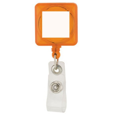 Square Plastic Retractable Badge Holder Clip