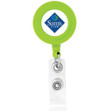 Imprintable BioGreen Round-Shaped Badge Holder