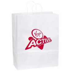 Logo White Kraft Paper Bag