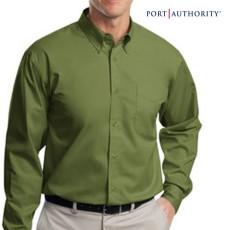 Long Sleeve Printed Easy Care Dress Shirt