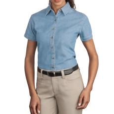 Port & Company - Ladies Short Sleeve Value Denim Shirt (Apparel)