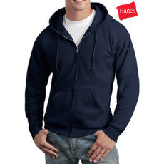 Hanes Logo Full Zip Hooded Sweatshirt