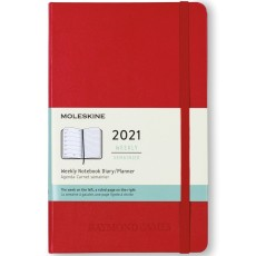 Moleskine Hard Cover Large 12-Month Weekly 2021 Planner