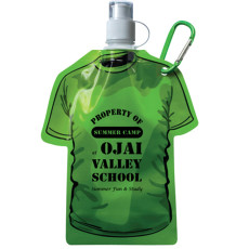 Printed T-Shirt Shaped Collapsible 16 oz. Water Bottle
