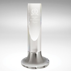 Promotional Diagonal Cut Cylinder - Crystal