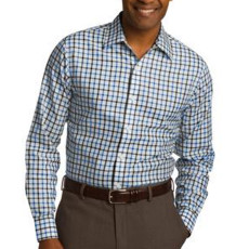 Red House Tricolor Check Slim Fit Non-Iron Shirt