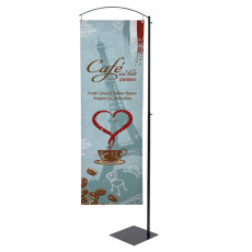 Curved Cantilever Display Banner