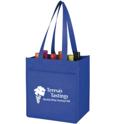 Monogrammed Non -Woven 6 Bottle Wine Tote