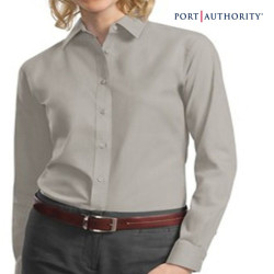 Port Authority Ladies' Long Sleeve Poplin Shirt