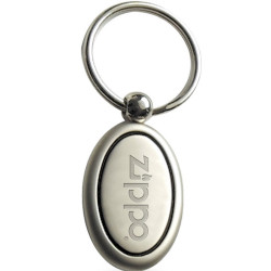 Promotional Split Ring Metal Oval Keyholder