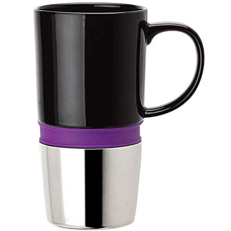 16 oz. Ceramic Mug with Chrome Base