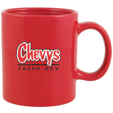 20oz Glossy Custom C-Handle Ceramic Mug