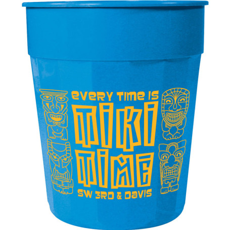 24oz Imprinted Fluted Stadium Cup