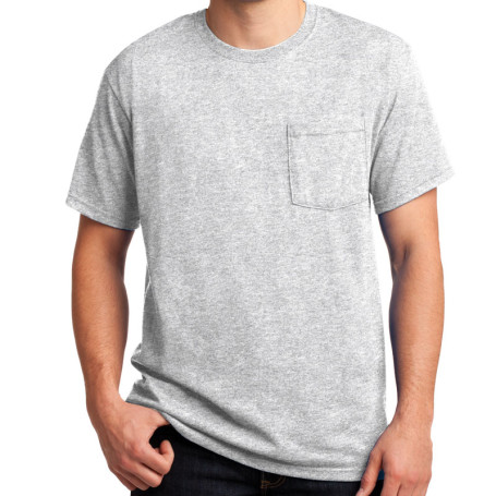 JERZEES - Heavyweight Blend 50/50 Cotton/Poly Pocket T-Shirt (Apparel)