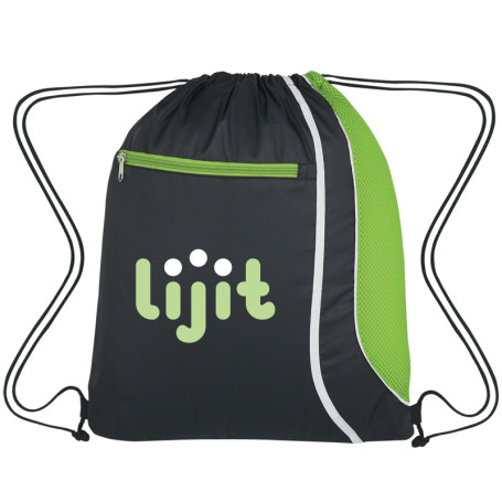 Monogrammed Mesh Accent Drawstring Sports Pack