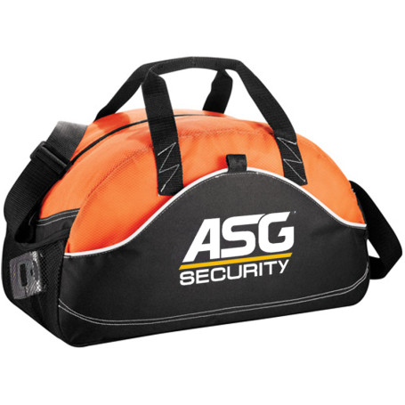 "Imprinted Boomerang 18"" Sport Duffel - ORANGE"