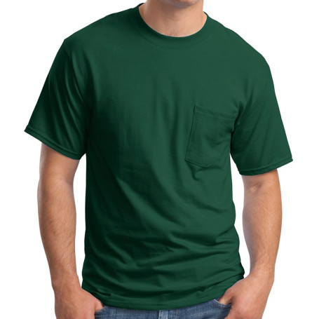 Hanes Beefy-T - 100% Cotton T-Shirt with Pocket