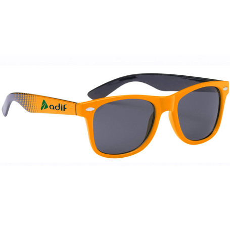 Printed Two-Tone Malibu Sunglasses