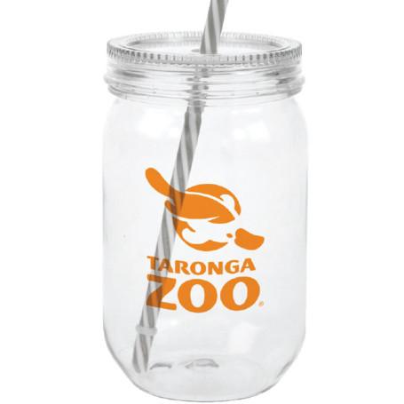 24 oz. Acrylic Mason Jar