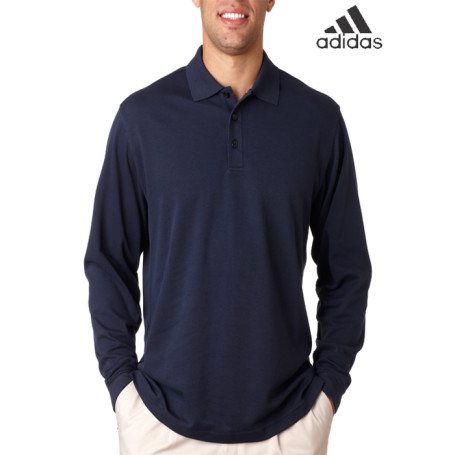 Adidas ClimaLite Tour Pique Long-Sleeve Polo