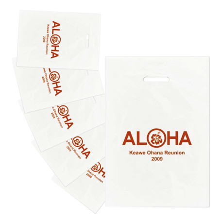 Logo Frosted Die Cut Merchandise Bags