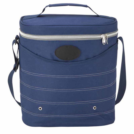 Engraved Oval Cooler Bag with Shoulder Strap