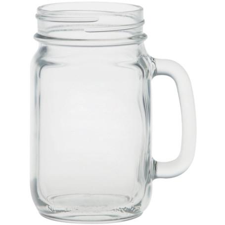 16 oz Handled Glass Jar