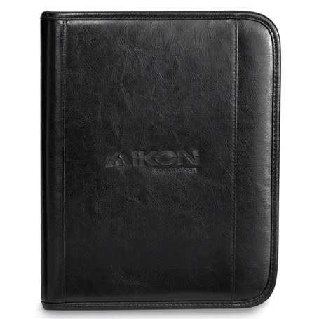 Custom Deluxe Leather Wired-E Padfolio