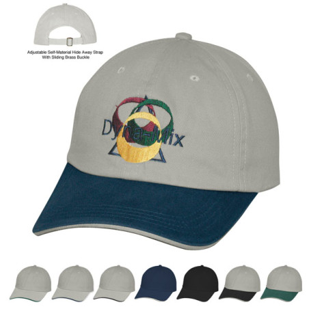 Custom Logo Cotton Chino Sandwich Cap