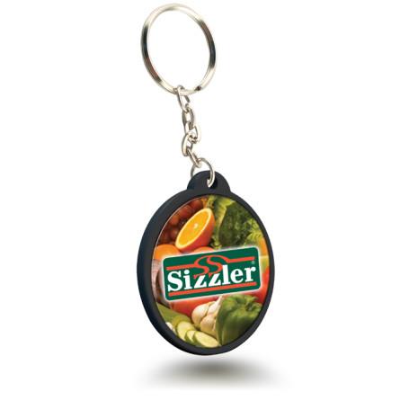 Personalized Logo Circular Plastic Keychain
