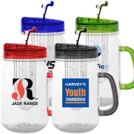 Custom Printed Infuser Mason Jar Mug