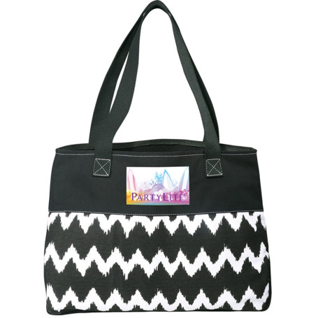 Customizable In Print Ikat Cotton Shopper Bag