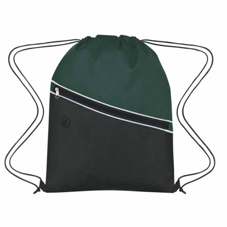 Customizable Non-Woven Two-Tone Drawstring Bag