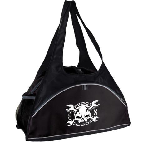 Printable Fitness Duffel Bag - Black printed