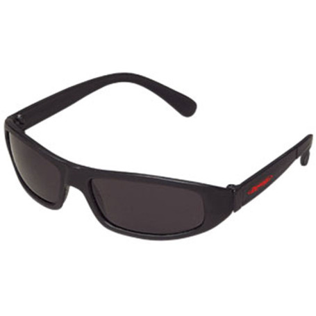 Imprint Wrap Style Sunglasses with Dark Lenses