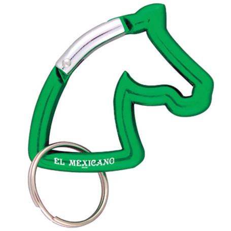 Imprintable Horse Head Carabiner Key