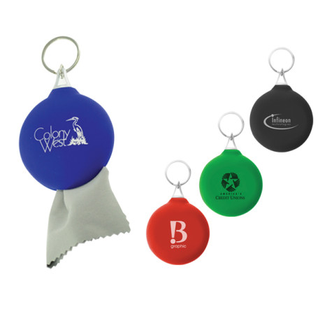Imprinted Micro Pouch Key Chain