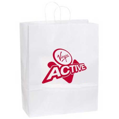 Logo White Kraft Paper Bag